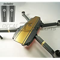 DJI Mavic Gold Racing Stripes Graphic Wrap kit- Battery wrap