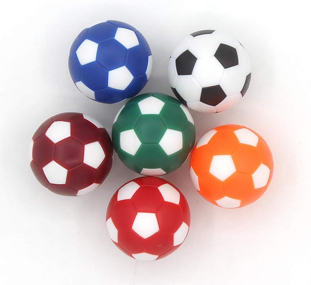 COSDDI 6 Piezas 32/36mm Table Soccer Foosball Reemplazos Mini Mesa Pelotas de Fútbol: Amazon.es: Juguetes y juegos
