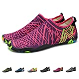 KEALUX Men Women Barefoot Quick-Dry Water Sports Shoes Multifunctional Sneakers with Drainage Holes for Swim, Walking, Yoga, Lake, Beach, Garden, Park, Driving, Boating 38 (pink)