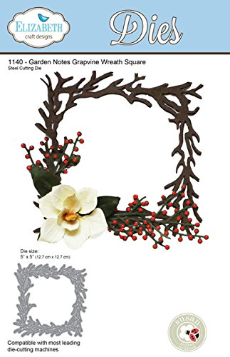 Wreath Note (Elizabeth Craft Designs Dies - Garden Notes Grapevine Wreath Square dies)