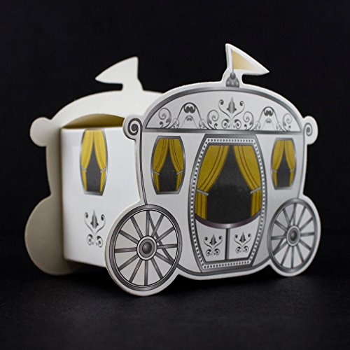 Mememall Fashion 96 Fairy Tale Wedding Enchanted Carriage Favor Boxes Decorations Gift Favors (Toddler Fairy Tale Classics Costume)