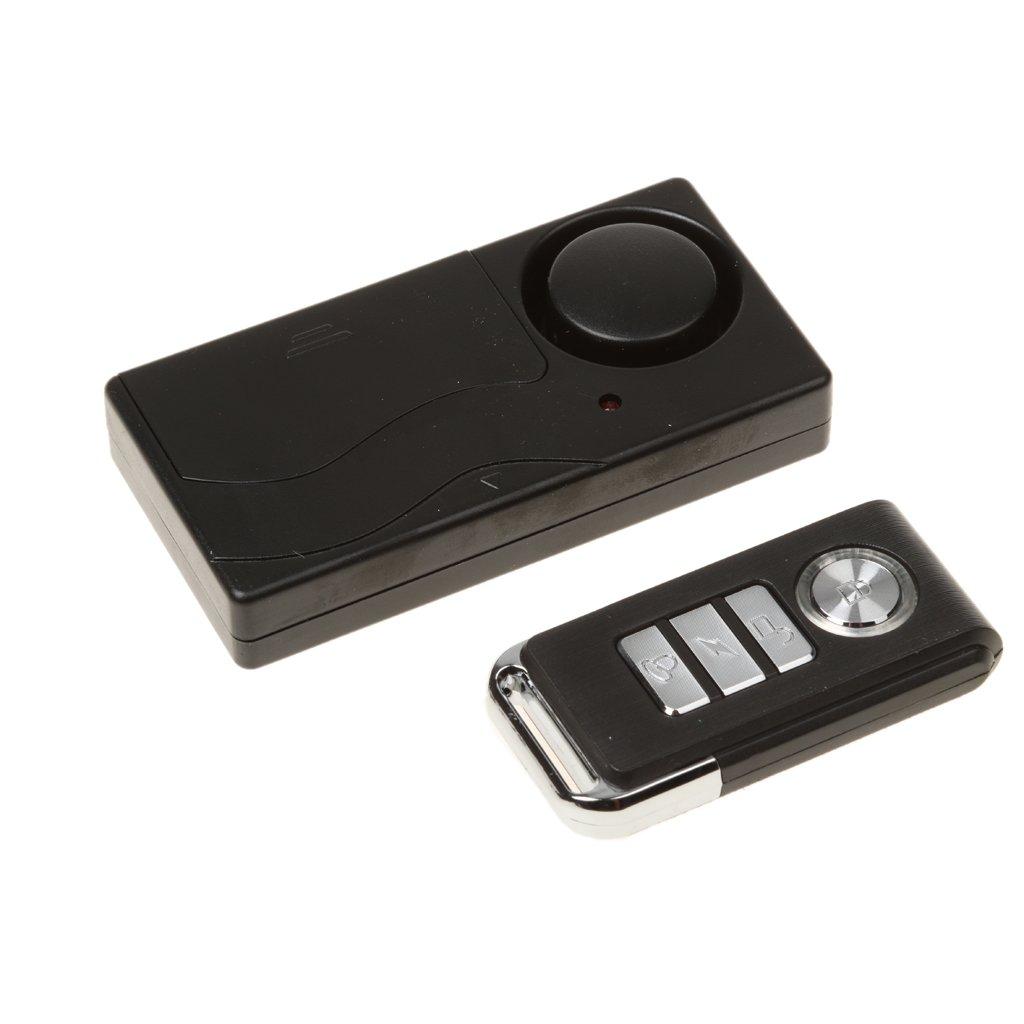 Gazechimp Alarma de Vibración sin Hilos Mando a Distancia Seguridad de Casa Hogar