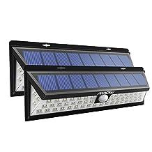 Mpow 54 LED Solar Lights Outdoor Solar Power Lights with 120° Wide Angle Motion Sensor Solar Patio Lighting for Garden, Yard, Patio, Path Lighting 2Packs