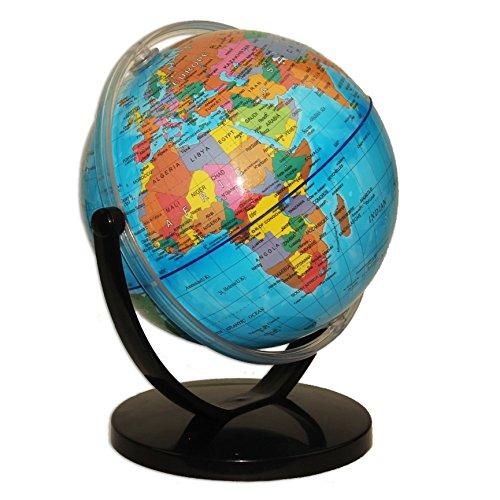 (Political World Globe Desktop Stand, Office And School Swivel Rotating 7