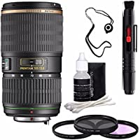 Pentax SMCP-DA 50-135mm f/2.8 ED (IF) SDM Autofocus Lens + 3 Piece Filter Kit + Deluxe 3pc Lens Cleaning Kit + Lens Pen Cleaner + Lens Cap Keeper 6AVE Bundle