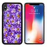 MSD Premium Apple iPhone X Aluminum Backplate Bumper Snap Case IMAGE ID 34871686 Purple artificial flowers