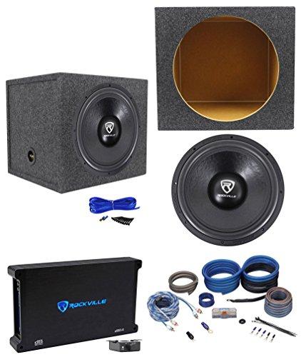 Rockville W15K6D4 V2 15″ 4000w Subwoofer+Sealed Sub Box+Mono Amplifier+Amp Kit