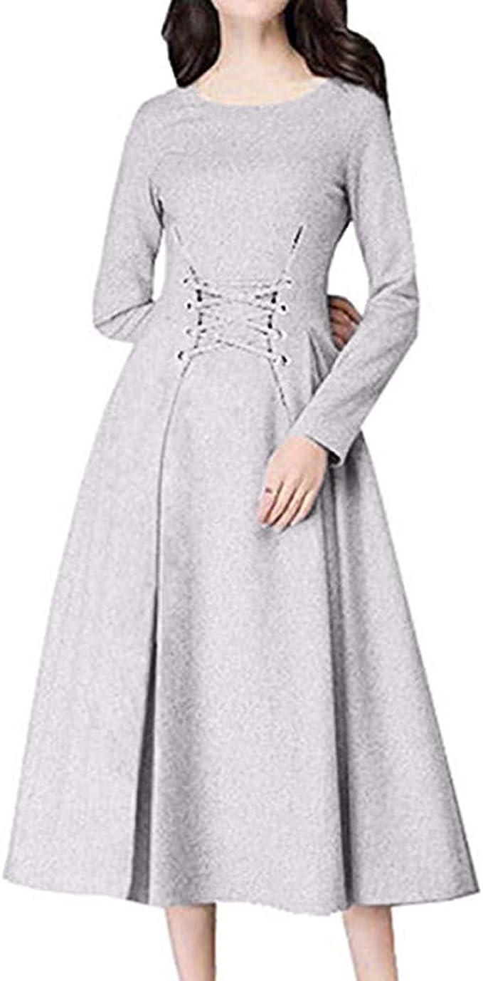 LUBITY Damen Abendmode Kleid Mehrfarbig Mehrfarbig S-XXL Gr. XXL