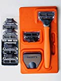 #8: Harry's Mens Razor Set with 6 Razor Blades (Bright Orange)