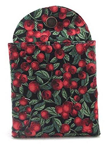 Thistledown Cozies Tea Wallet - Evening Cranberries