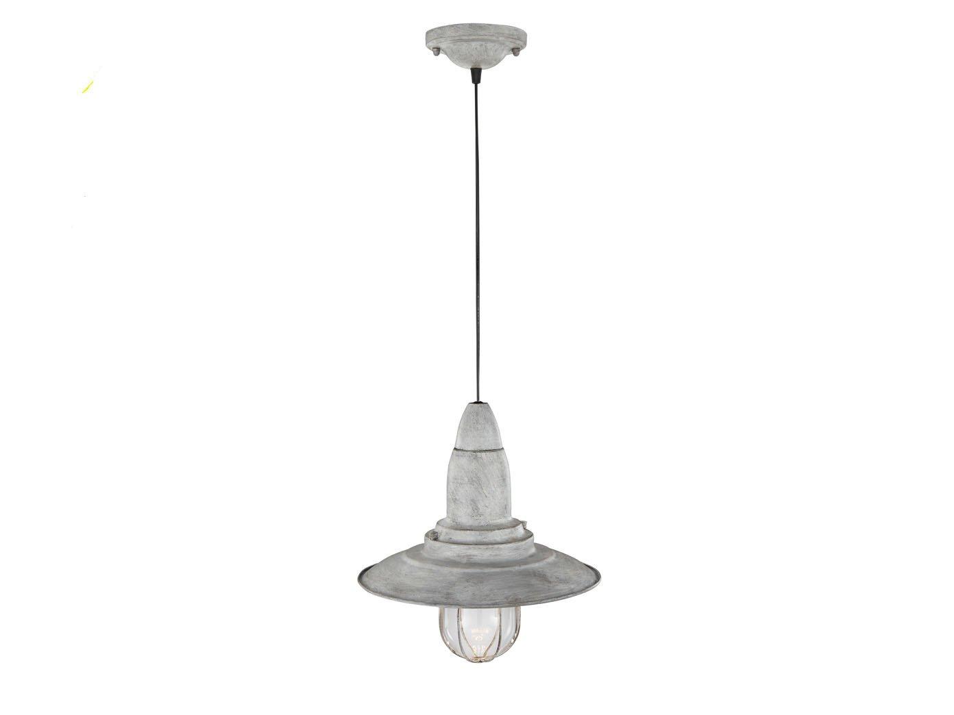 Vintage Pendelleuchte in Grau antik antik antik Ø 32cm, mit LED Dekor Leuchmittel 24c631