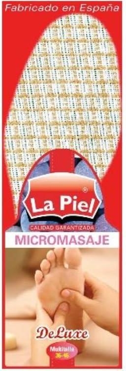 Plantillas Zapatos La Piel Micromasaje Multitalla: Amazon.es: Hogar