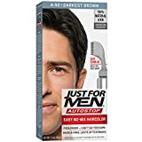 Just For Men Auto Stop Hair Color Darkest Brown Hair Color for Men, 1 Application