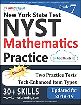 New York State Test Prep 7th Grade Math Practice Workbook And Full Length Online Assessments NYST Study Guide Lumos Learning 9781946795151 Amazon