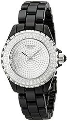 Akribos XXIV Women's AKR457BK Lady Crystals Collection Black Ceramic Bracelet Watch