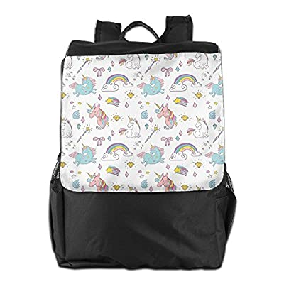 6ca7ce642124 Newfood Ss Magic Unicorn Forms With Colorful Fantasy Cloud And Rainbow  Pattern Outdoor Travel Backpack Bag