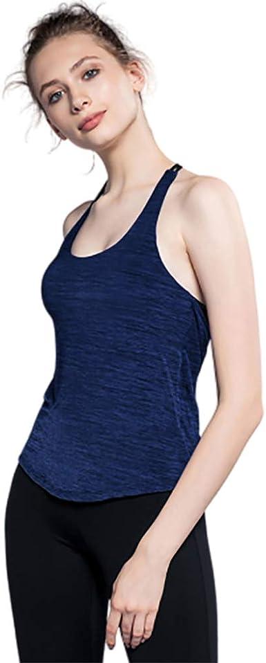 Yoga para Mujer Camisetas Sin Mangas Camiseta Deportiva Ropa De Entrenamiento De Algodón Súper Suave Entrenamiento para Mujeres Ropa De Ciclismo: Amazon.es: Ropa y accesorios