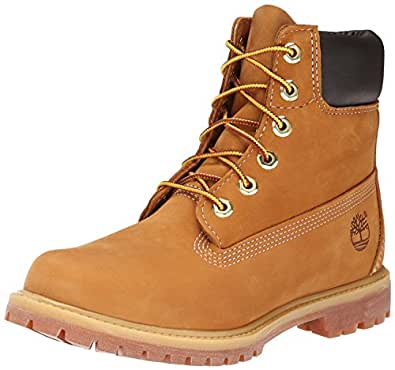Timberland Women's 6-Inch Premium Waterproof Boots, Womens Shoes, Yellow (Wheat Nubuck), 6 US