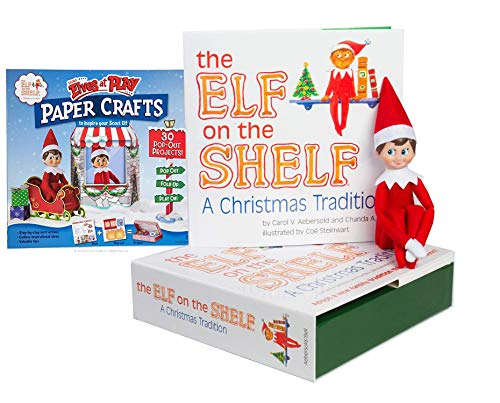 The Elf on the Shelf: A Christmas Tradition Boy Scout Elf (Blue Eyed) with Scout Elves at Play Paper Crafts ()