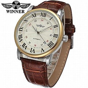 XKC-watches Relojes para Hombres, Winner Hombre El Reloj mecánico Reloj de Pulsera Reloj