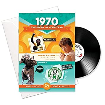 Compilation - 1970 Birthday or Anniversary Gifts - 1970 4-In-1 Card