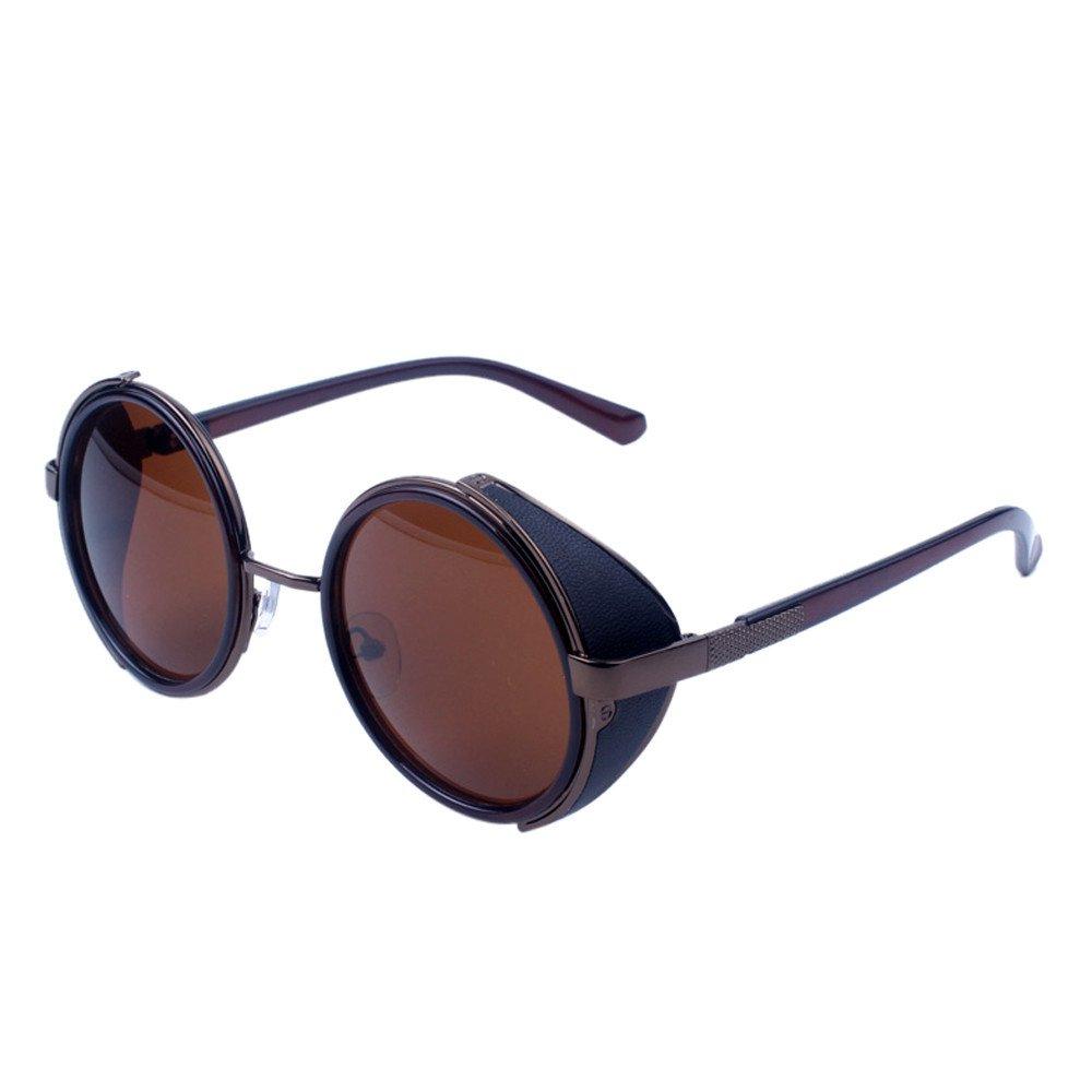 Women Men Vintage Retro Glasses Unisex Fashion Aviator Mirror Lens Travel Sungla