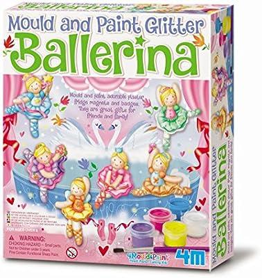 4M Mold and Paint Glitter Ballerina Kit