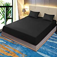 Sleeping Cloud Twin/Full/Queen/King/Cal King Size Fitted Sheet Double Brushed Microfiber Bed Sheet Deep Pocket Bottom Sheet Only, Wrinkle, Fade, Stain and Abrasion Resistant …