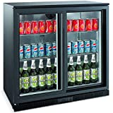 Undercounter Bottle Cooler Double Door Sliding Back Bar Cooler