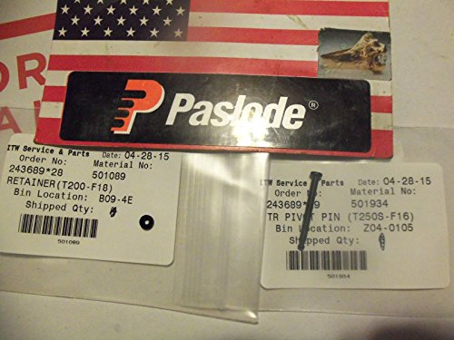 NEW Paslode Part # 501934 TR PIVOT PIN (T250S-F16) + # 501089 RETAINER