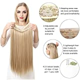 Hair Extensions Halo Sandy Blonde Long Synthetic