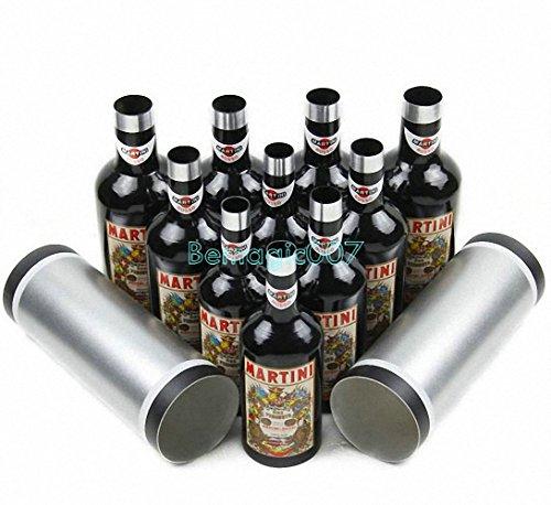 Multiplying Bottles Black 10 bottles - Stage Magic Tricks -
