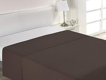 Imagen deSABANALIA - Sábanas Encimeras Combina (Disponible en Varios tamaños) - Cama 150, Chocolate
