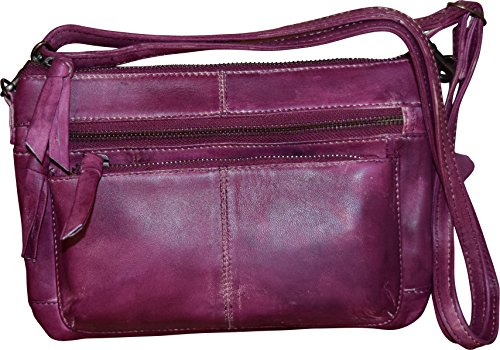 Fashion Women's Genuine Berry Crossbody Leather bag Shoulder OOr5dqw0