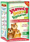 Yummi Bears Calcium + Vitamin D3, Vegetarian, 90 Sour Gummy Bears, Health Care Stuffs