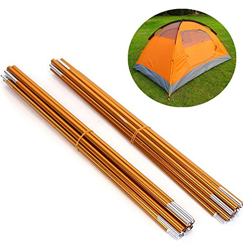 Aluminum Rod Tent Pole KangTeer 2 Pack Alloy Bar Tent Pole Accessories Building Supporting Rod Pole Awning Frames Kit For Hiking Camping
