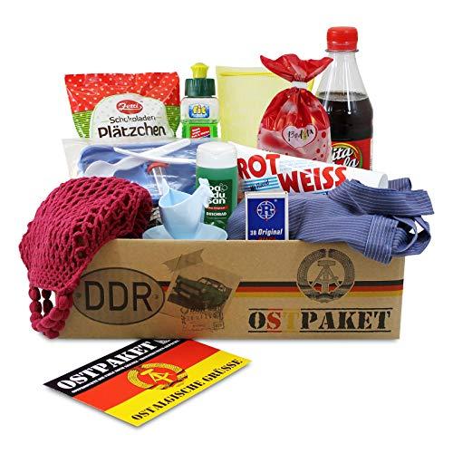 Ostpaket Kultprodukte klein mit 12 typischen Produkten der DDR Geschenkidee Spezialitäten Spezialitätenpaket Intershop…