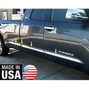 Tyger Auto Made in USA Custom for 2007-2020 Toyota Tundra Crewmax with 5.5 Bed Chrome Stainless Steel Rocker Panel Trim 8 Wide 8PCS