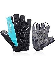 coskefy Fahrradhandschuhe Herren DamenFitness Handschuhe Halbfinger Atmungsaktive Rutschfest Mountainbike Radsporthandschuhe