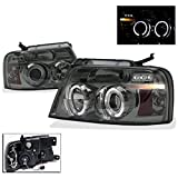 2004-2008 Ford F-150 Halo LED Projector Headlights with 8000K HID Conversion Kit - Smoke