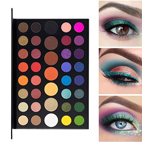 EDTO Pearlized Color Eyeshadow Powder 39 Colors Eye Shadow Matte Palette Pearlescent Eye Shadow Tray (Multicolor)