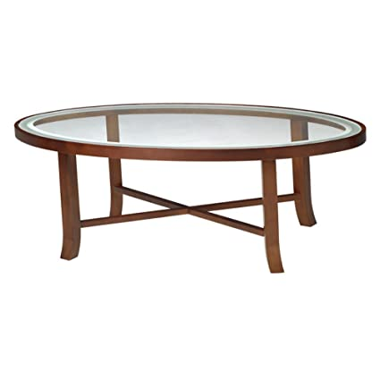 Amazoncom Mayline M106cscr Illusion Oval Glass Top Coffee Table 48