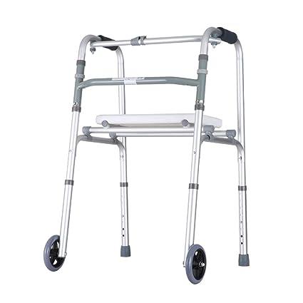 Accesorios para andadores con ruedas Andador Silla De Baño Andador Plegable Asistencia De Caminar Ajustable Ruedas