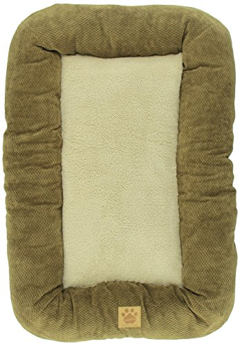Precision Pet 3000 Low Bumper Crate Mat, 31 by 21, Coffee Liqueur, Chenille by Petmate