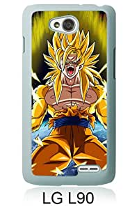Dragon Ball Z (3) White LG L90 Screen Cover Case Genuine and Newest Design
