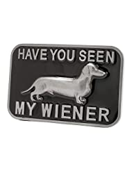 CBPEP111 Have You Seen my Wiener? Funny Adult Belt Buckle Dog
