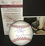 Travis Shaw Milwaukee Brewers Autographed Signed Official Major League Baseball MAYOR OF DING DONG CITY JSA WITNESS COA