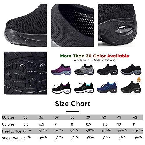 Women's Walking Shoes Sock Sneakers – Mesh Slip On Air Cushion Lady Girls