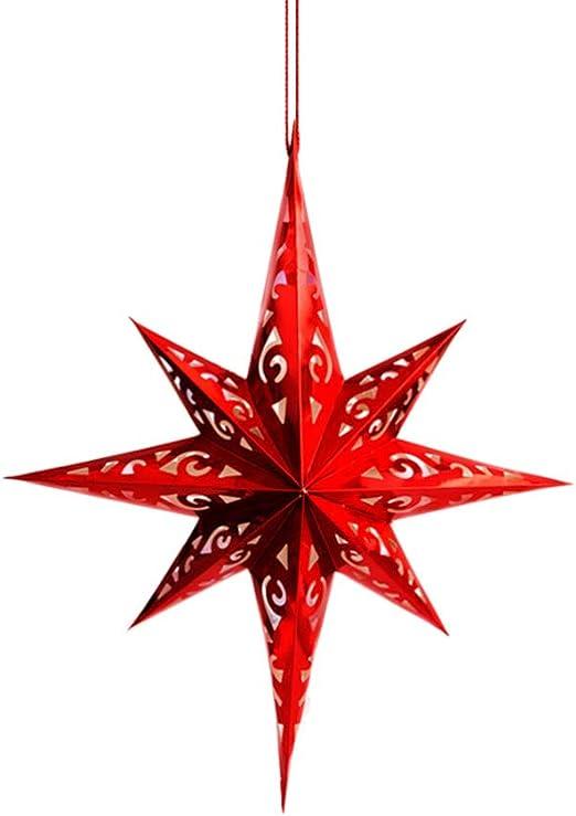 60cm Hanging Star Lantern Christmas Ornament for Wedding Birthday Party Home Dec