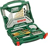 Bosch Titanium Drill and Screwdriver Set, 70 Pieces